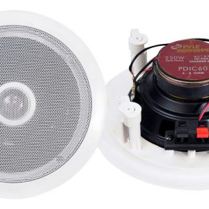250 Watts 6.5'' Two-Way In-Ceiling Speaker System (Pair)