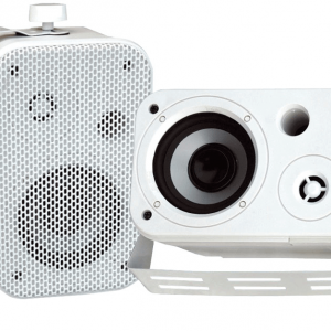3.5'' Indoor/Outdoor Waterproof On-Wall Speakers (Pair)
