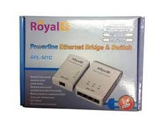 RPL 501c Powerline Ethernet Bridge and switches 4 port
