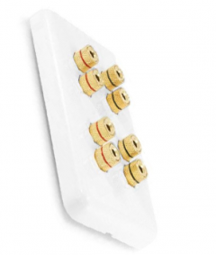 4 Speaker Wall Plate - Banana Binding