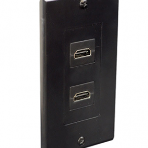 Dual HDMI Wall Plate 90 Degree Exit Ports