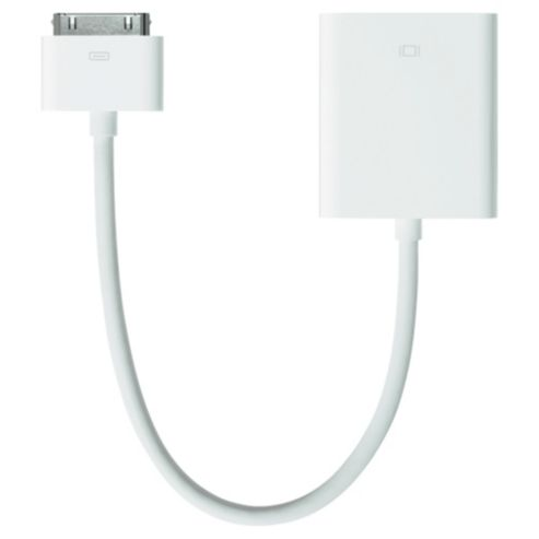White 30 Pin to VGA Adapter Cable for iPad Apple Dock Connector