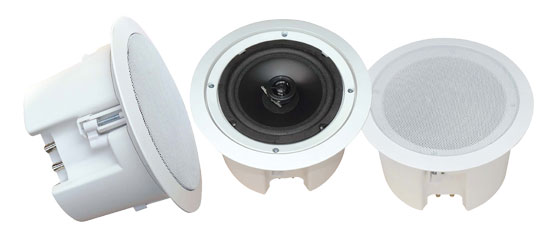 8'' In-Ceiling 2-Way Flush Mount Enclosure Speaker System (Pair)