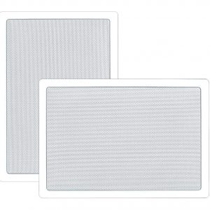 In-Wall / In-Ceiling 6.5'' Stereo Speakers, 2-Way, Flush Mount, White (Pair)