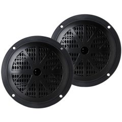 100 Watts 5.25'' 2 Way Black Marine Speakers (Pair)