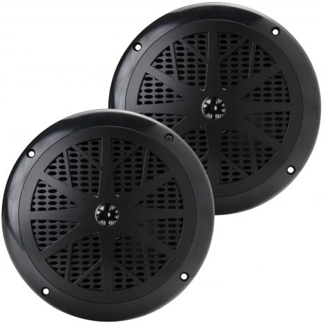 120 Watts 6.5'' Dual Cone Black Marine Speakers (Pair)