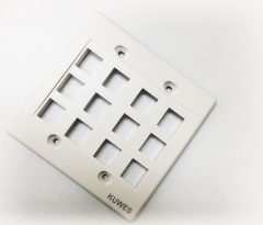 Wall Plate for Keystone,12 Hole - White