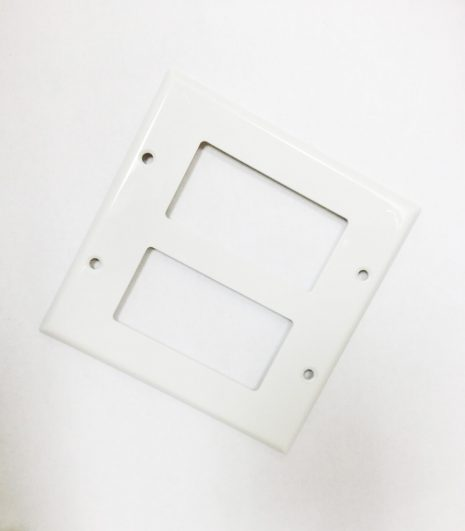 Dual Port Decora Insert Plate - White