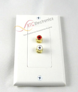 Stereo RCA Jack Wall Plate (Gold Plated)