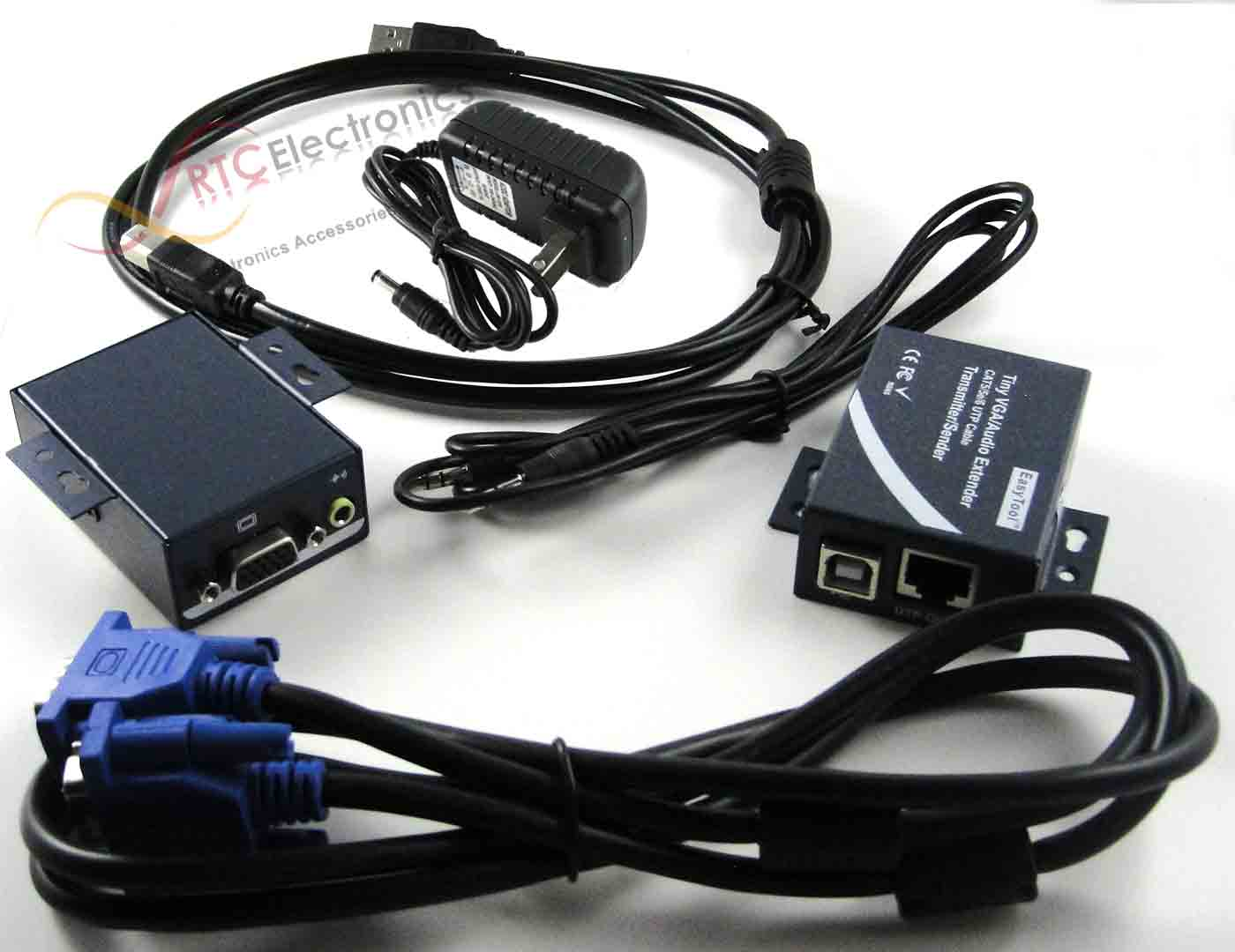 VGA Video Extender over Cat5e/CAT6 with Audio