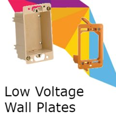 Low Voltage Wall Plates
