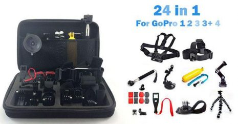 26in1 Head Chest Mount Monopod Accessories