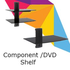 Component & DVD Shelves